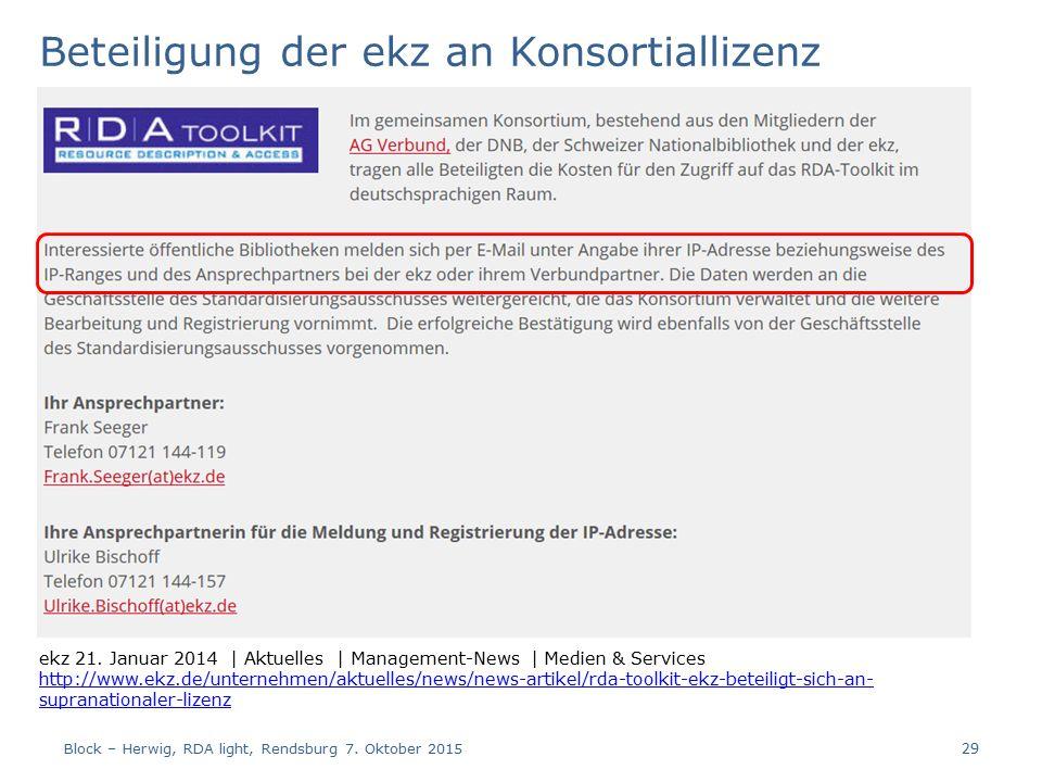 Beteiligung der ekz an Konsortiallizenz ekz 21.