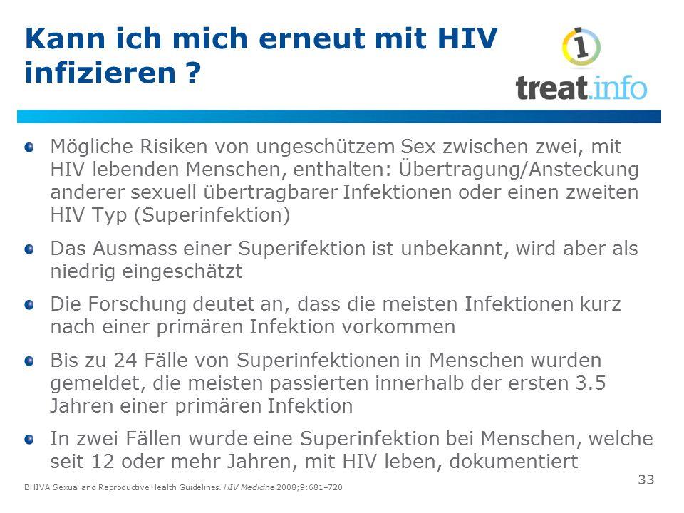 Kann ich mich erneut mit HIV infizieren ? Mögliche Risiken von ungeschützem Sex zwischen zwei, mit HIV lebenden Menschen, enthalten: Übertragung/Anste