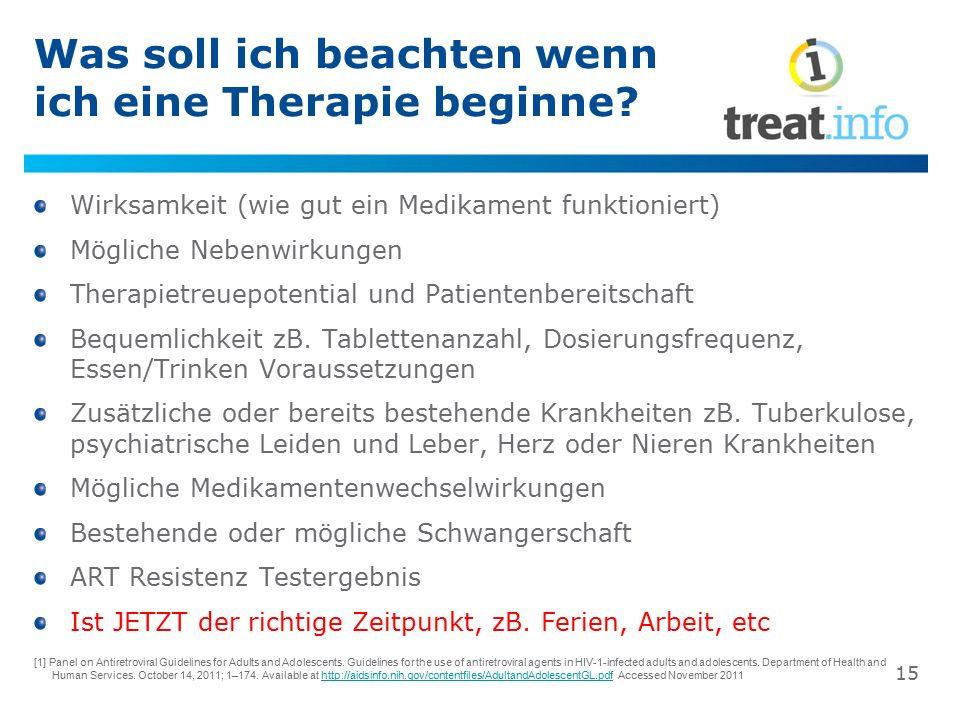 Wie werde ich wissen ob die Therapie funktioniert.