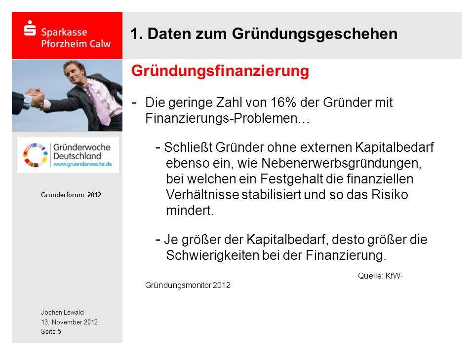 Jochen Lewald 13. November 2012 Gründerforum 2012 Seite 5 1.