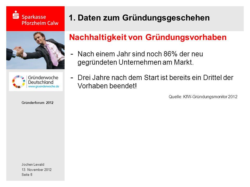 Jochen Lewald 13. November 2012 Gründerforum 2012 Seite 8 1.
