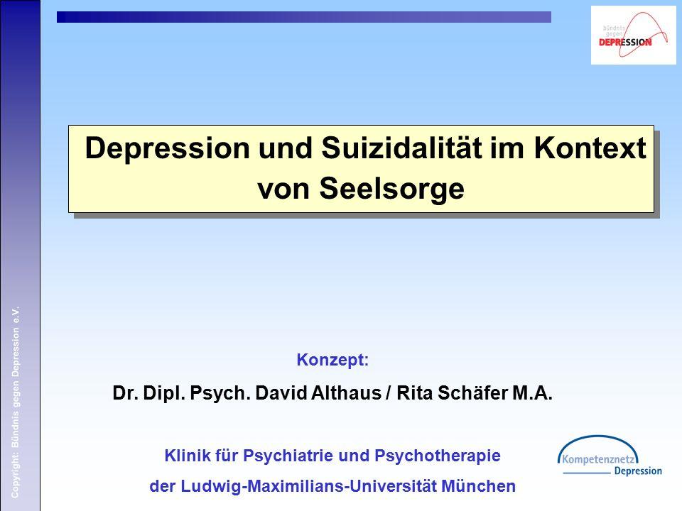 Copyright: Bündnis gegen Depression e.V. Konzept: Dr.