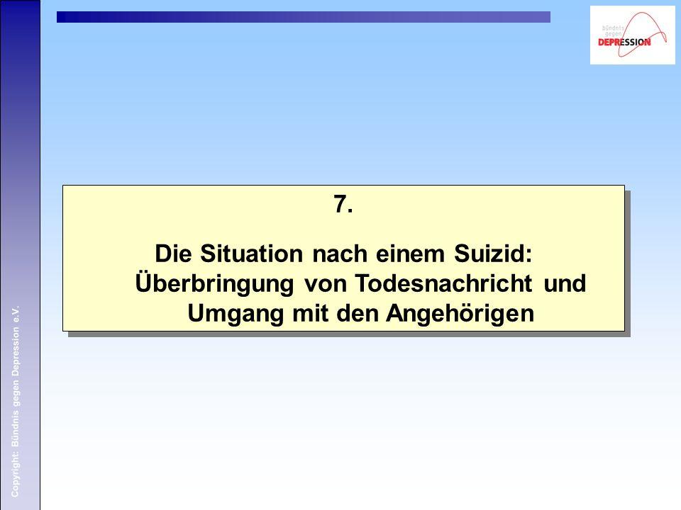 Copyright: Bündnis gegen Depression e.V. 7.