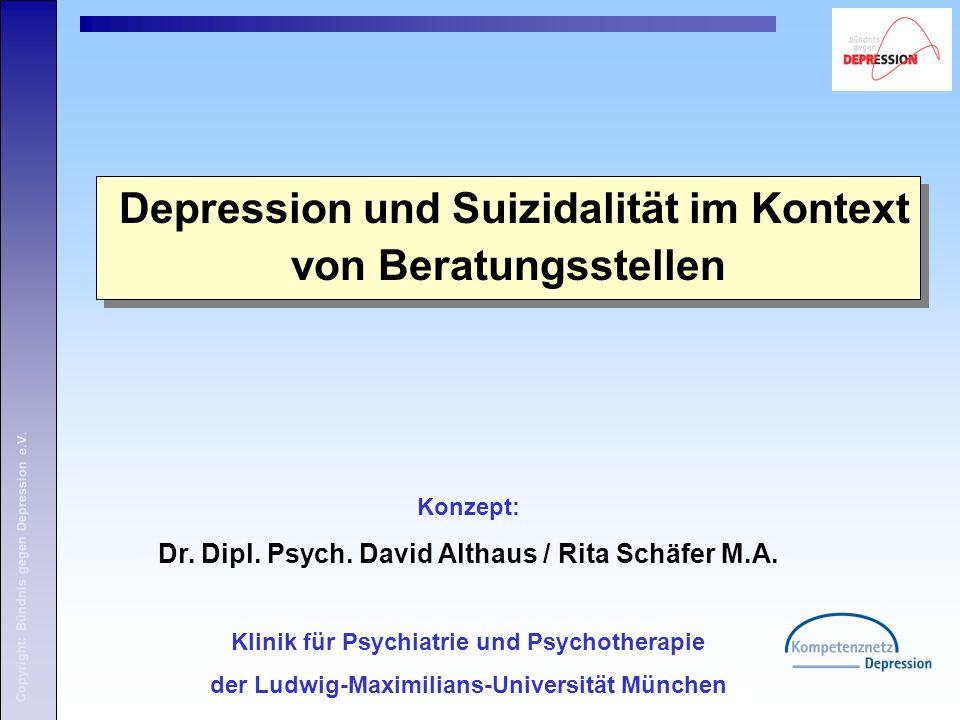 Copyright: Bündnis gegen Depression e.V. 1. Begrüßung und Vorstellung 1. Begrüßung und Vorstellung