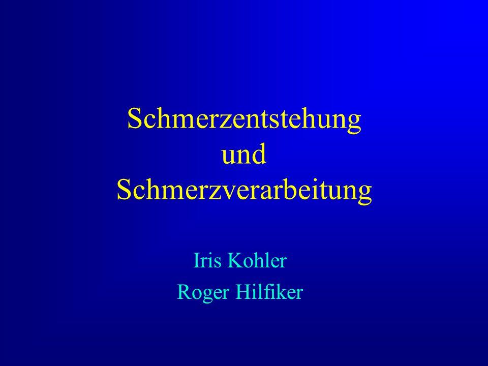 Schmerzentstehung und Schmerzverarbeitung Iris Kohler Roger Hilfiker