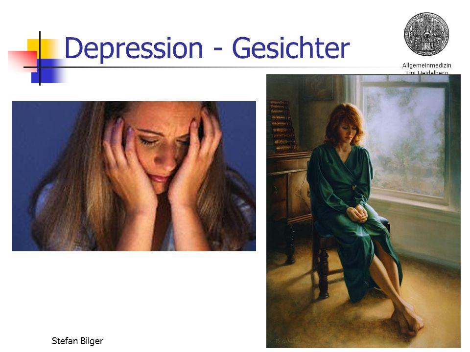 Allgemeinmedizin Uni Heidelberg Stefan Bilger Depression - Gesichter