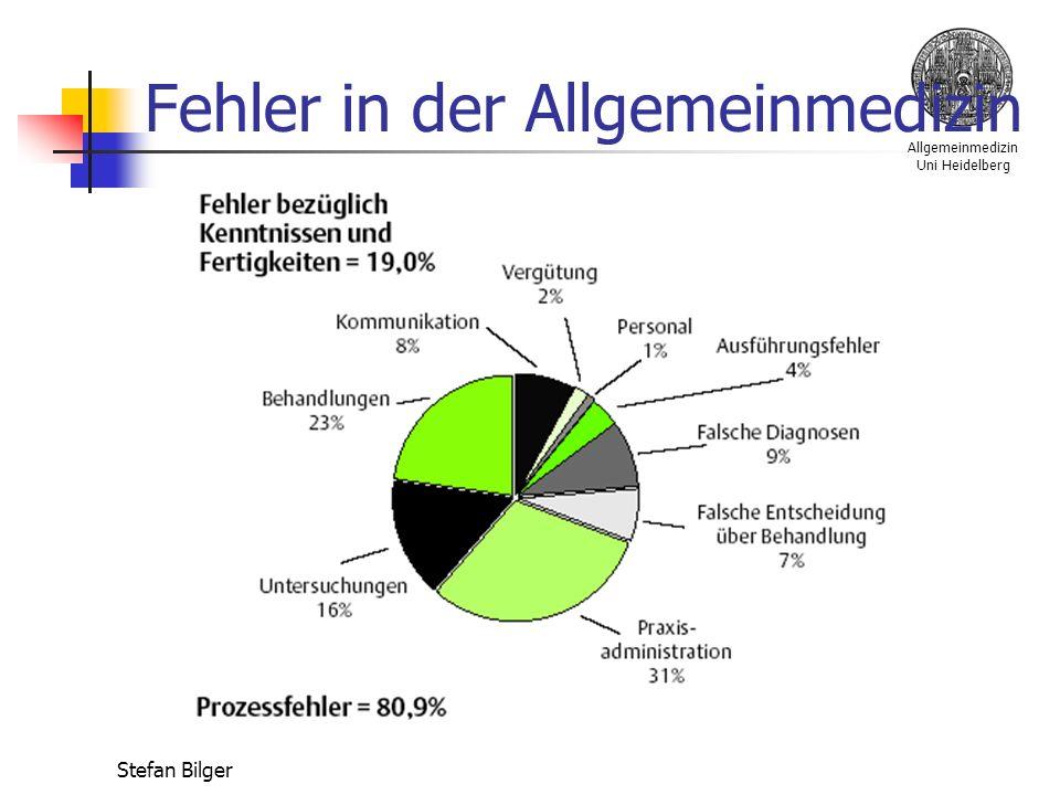 Allgemeinmedizin Uni Heidelberg Stefan Bilger Fehler in der Allgemeinmedizin