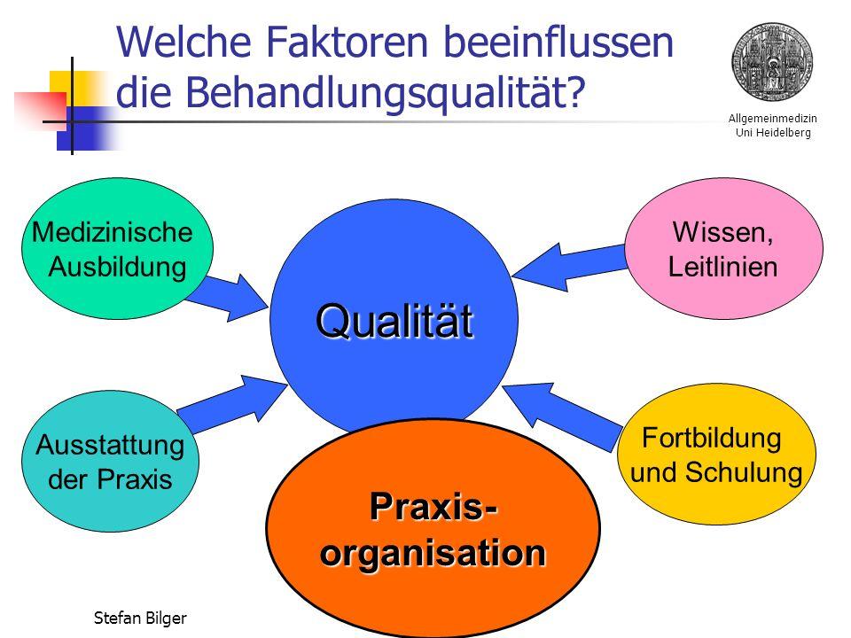 Allgemeinmedizin Uni Heidelberg Stefan Bilger Welche Faktoren beeinflussen die Behandlungsqualität.