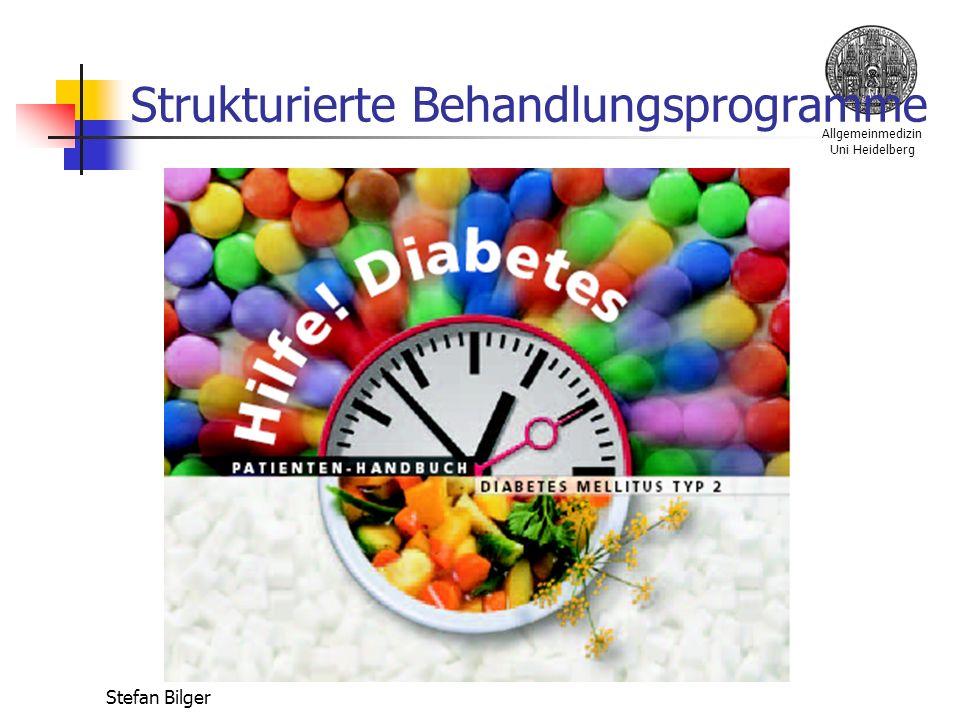 Allgemeinmedizin Uni Heidelberg Stefan Bilger Strukturierte Behandlungsprogramme