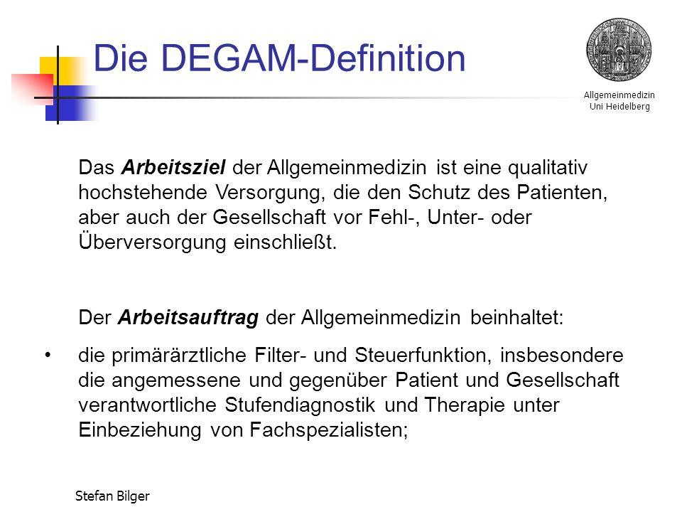 Allgemeinmedizin Uni Heidelberg Stefan Bilger Zeitschriften: Zeitschrift für Allgemeinmedizin - ZfA arzneitelegramm tägliche praxis, Marseille-Verlag
