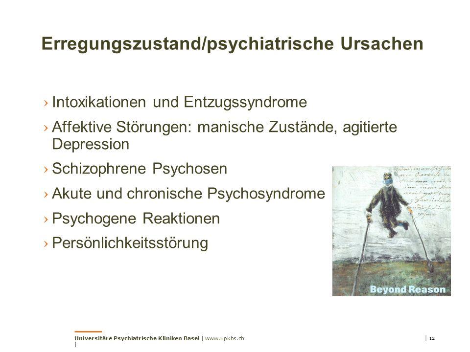 Erregungszustand/psychiatrische Ursachen › Intoxikationen und Entzugssyndrome › Affektive Störungen: manische Zustände, agitierte Depression › Schizop