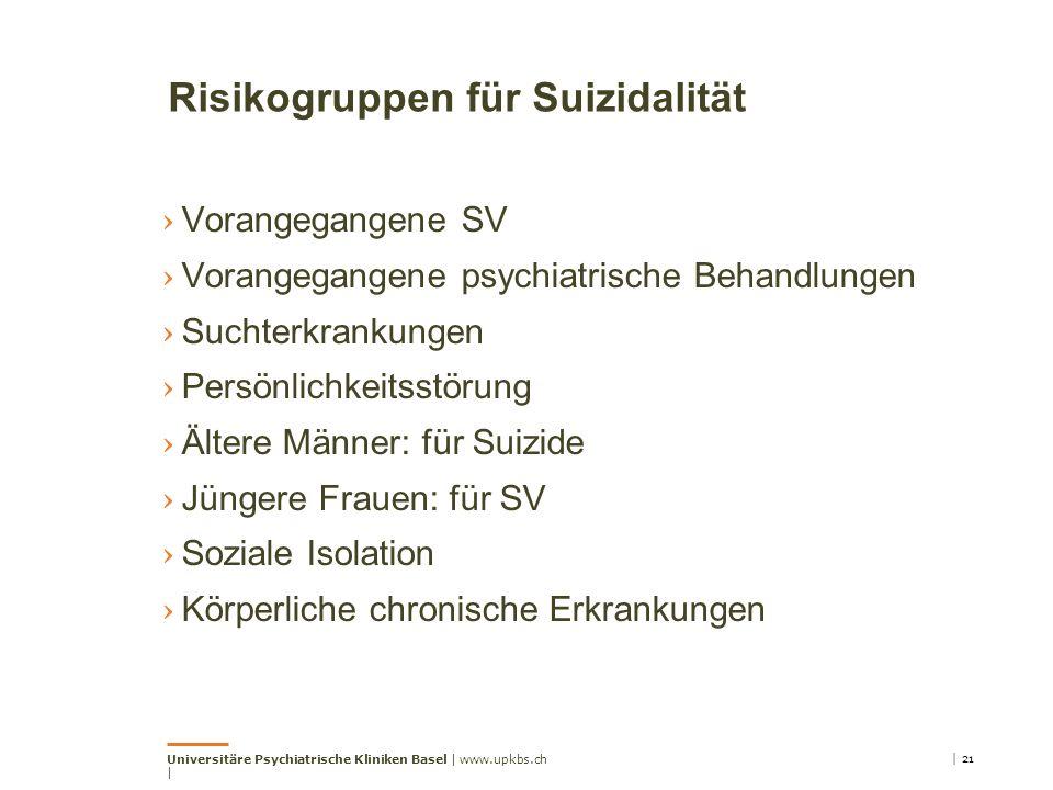 Risikogruppen für Suizidalität › Vorangegangene SV › Vorangegangene psychiatrische Behandlungen › Suchterkrankungen › Persönlichkeitsstörung › Ältere