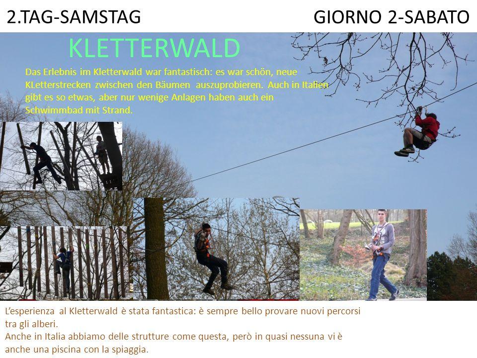 KLETTERWALD L'esperienza al Kletterwald è stata fantastica: è sempre bello provare nuovi percorsi tra gli alberi.