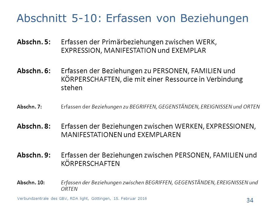 Abschnitt 5-10: Erfassen von Beziehungen Abschn.