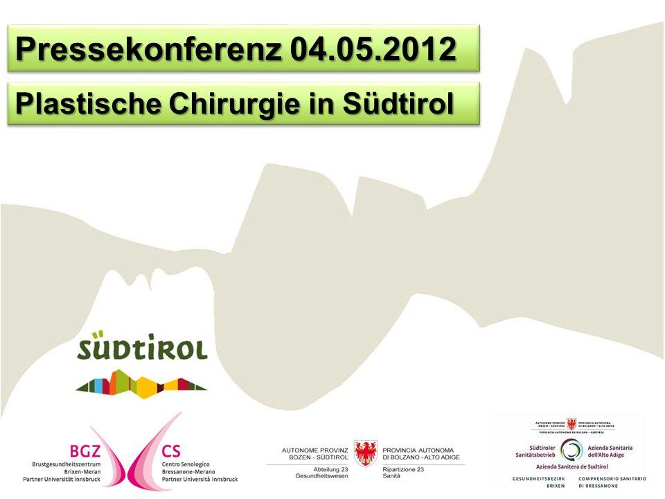 Conferenza stampa 04.05.2012 Chirurgia plastica in Alto Adige
