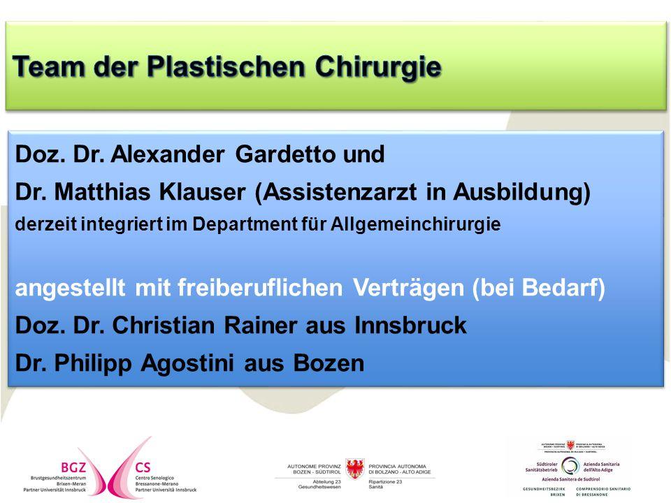 Doz. Dr. Alexander Gardetto und Dr.