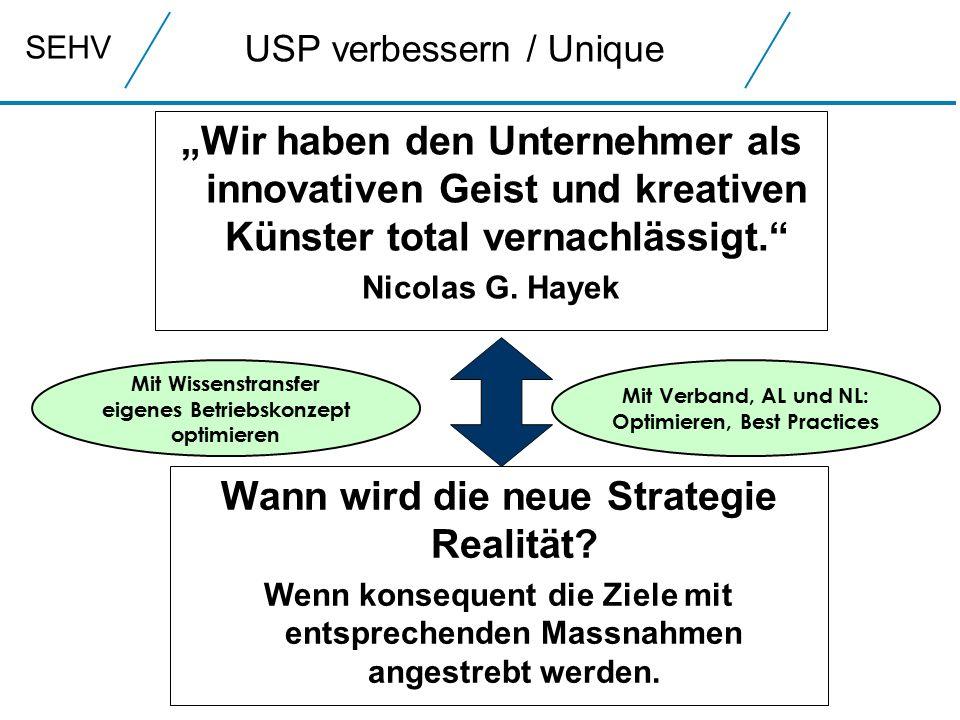 SEHV USP verbessern / Unique Wann wird die neue Strategie Realität.
