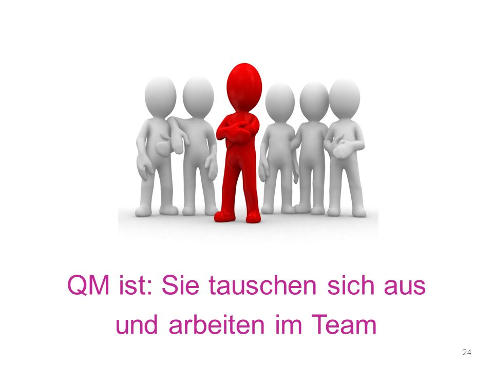 QM ist: Sie tauschen sich aus und arbeiten im Team 24
