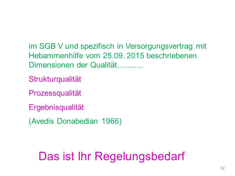 im SGB V und spezifisch in Versorgungsvertrag mit Hebammenhilfe vom 25.09.
