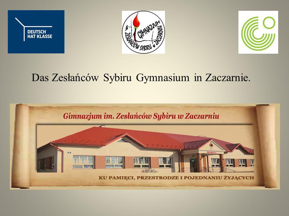 Das Zesłańców Sybiru Gymnasium in Zaczarnie.