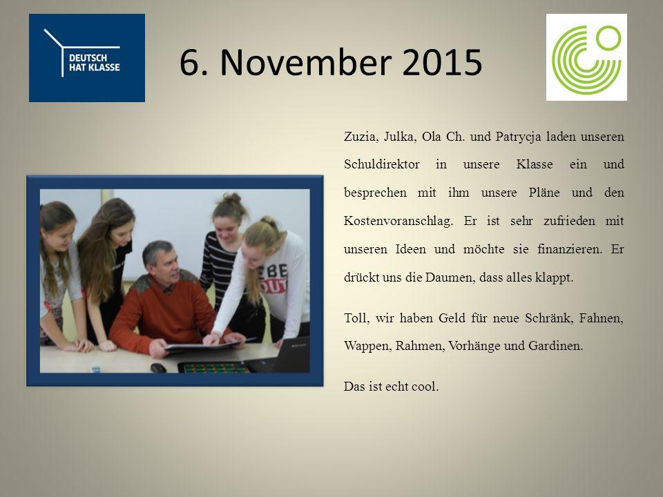 6. November 2015 Zuzia, Julka, Ola Ch.