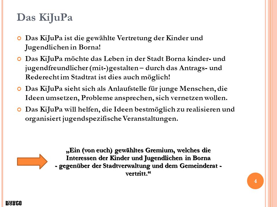 5 Jugendparlament / KiJuPa Am 13.12.
