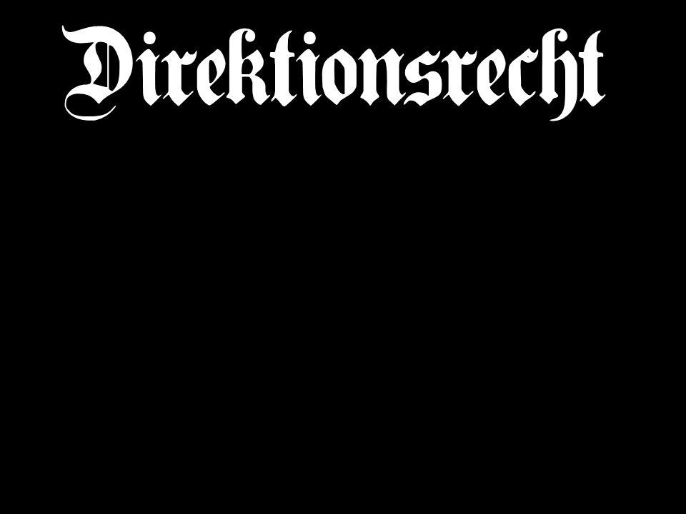 Direktionsrecht