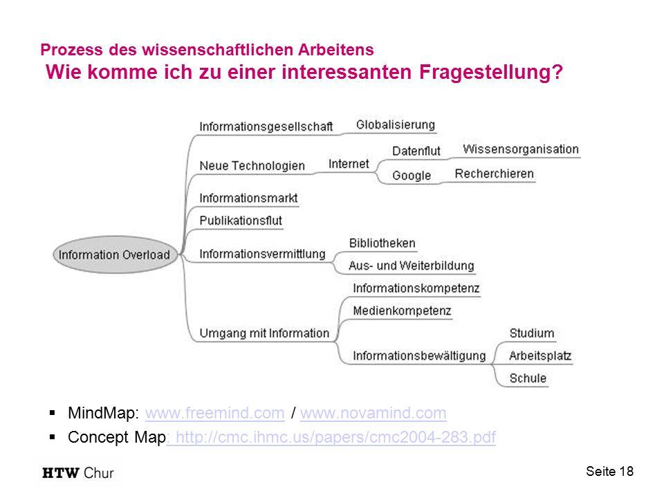 Prozess des wissenschaftlichen Arbeitens Wie komme ich zu einer interessanten Fragestellung.