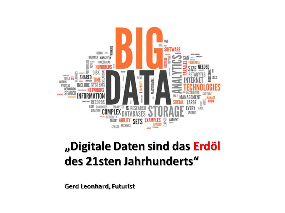 """""""Digitale Daten sind das Erdöl des 21sten Jahrhunderts Gerd Leonhard, Futurist"""