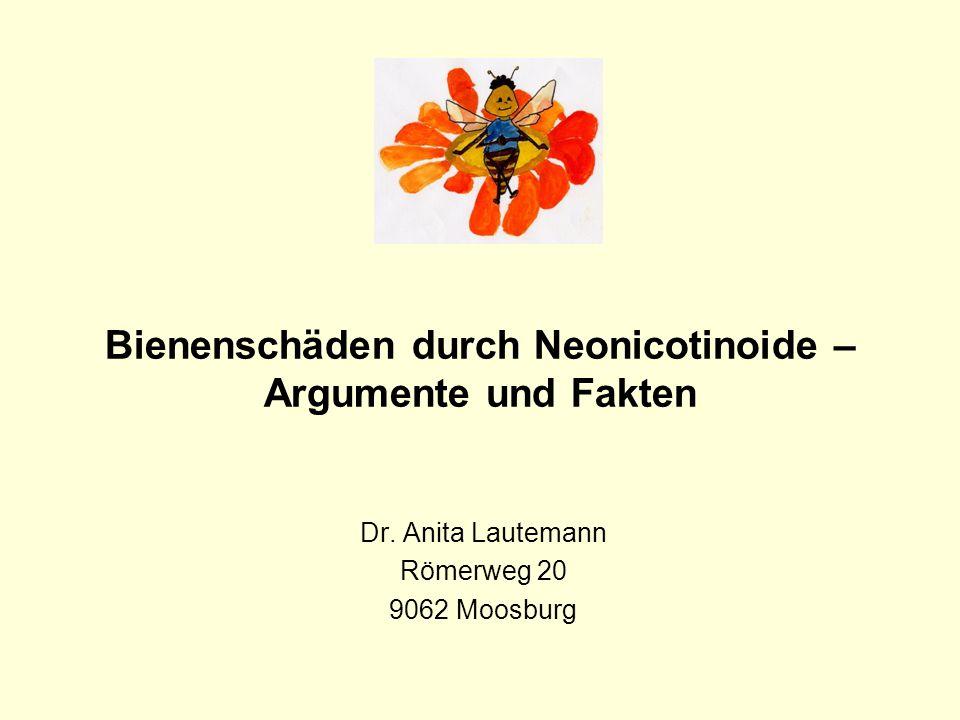 Bienenschäden durch Neonicotinoide – Argumente und Fakten Dr.