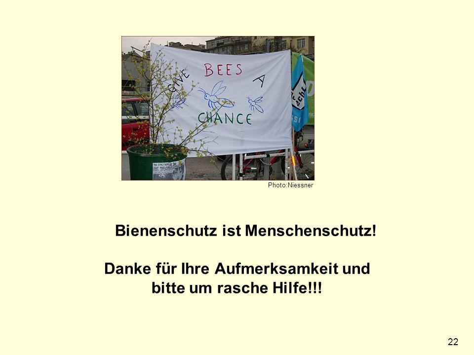 22 Photo:Niessner Bienenschutz ist Menschenschutz.