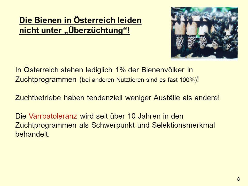9 Verbrauch an Neonicotinoiden in Österreich: 2012: 10.000 kg Bei gleichmäßiger Verteilung über ganz Österreich können mit jedem m² 12.000 Bienen getötet werden.