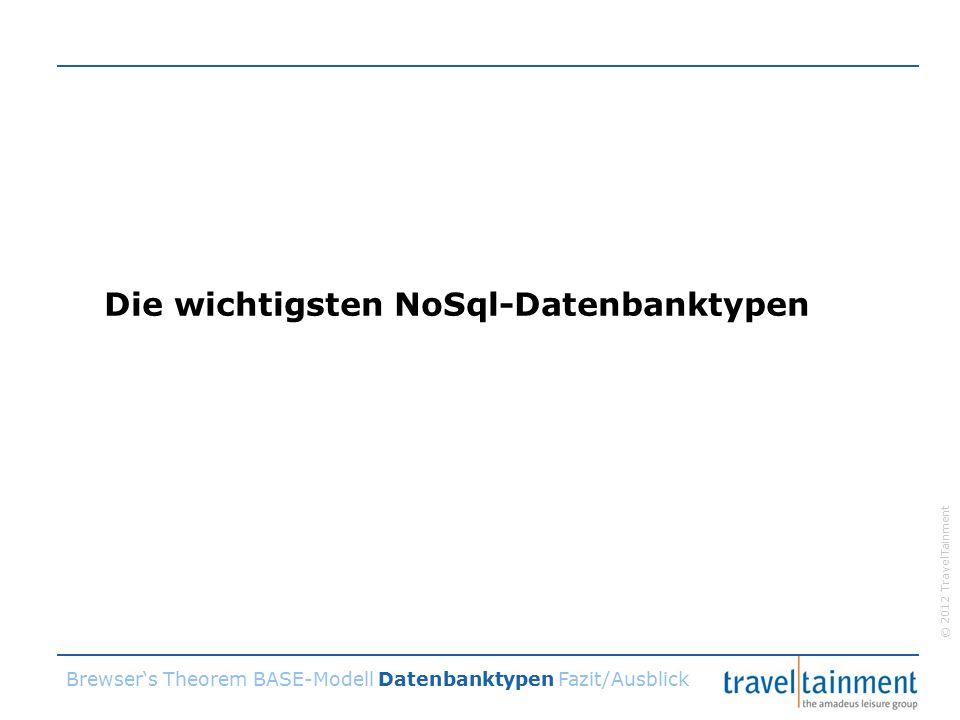 © 2012 TravelTainment Die wichtigsten NoSql-Datenbanktypen Brewser's Theorem BASE-Modell Datenbanktypen Fazit/Ausblick