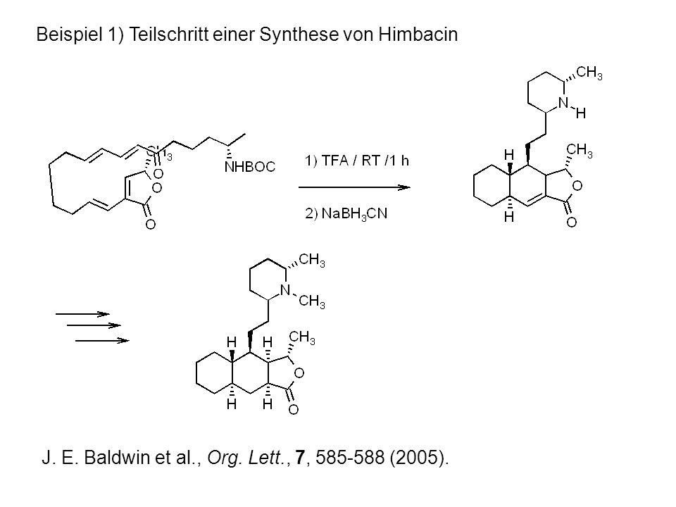 Beispiel 1) Teilschritt einer Synthese von Himbacin J.