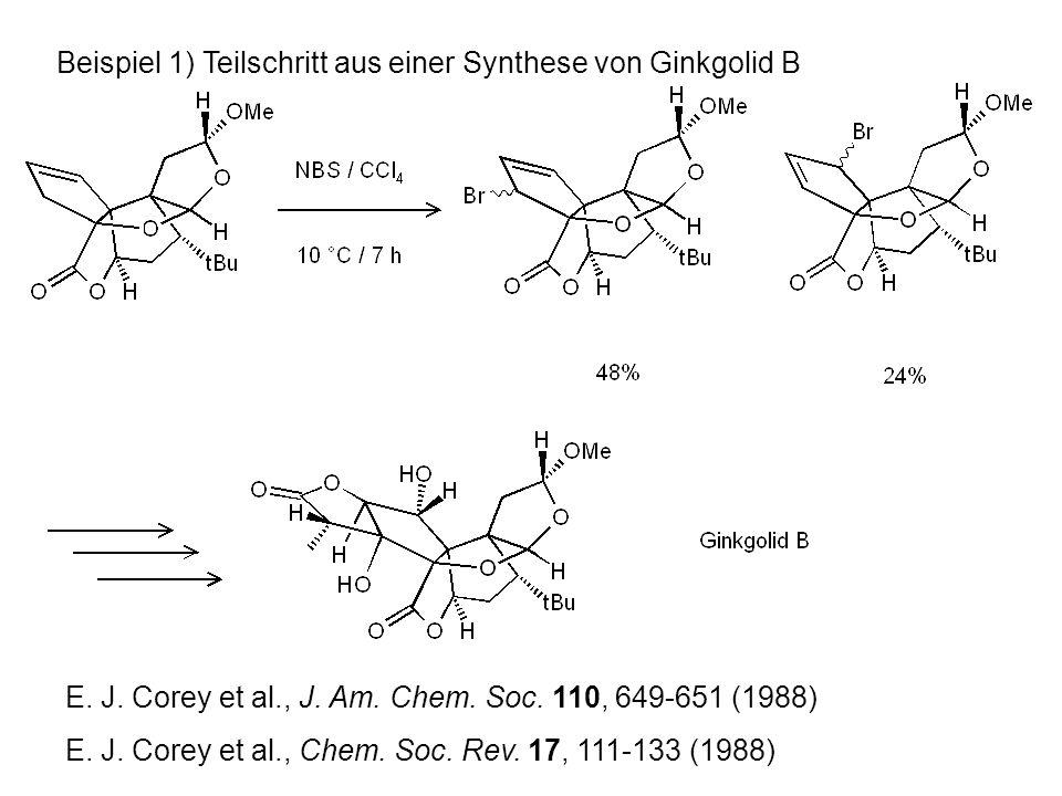 Beispiel 1) Teilschritt aus einer Synthese von Ginkgolid B E.