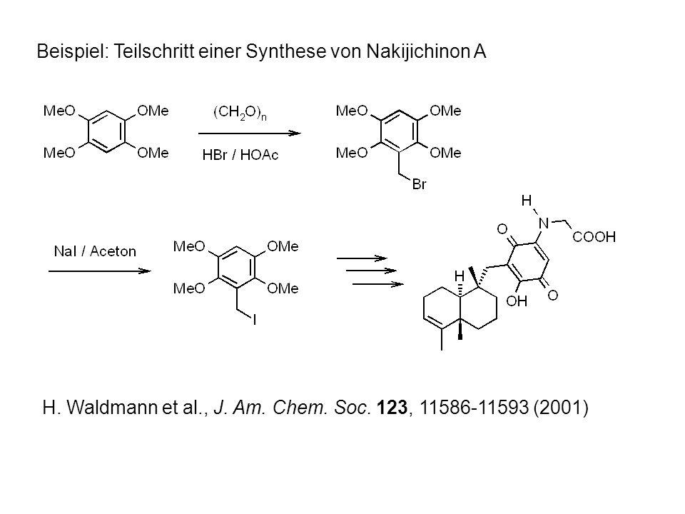 Beispiel: Teilschritt einer Synthese von Nakijichinon A H.