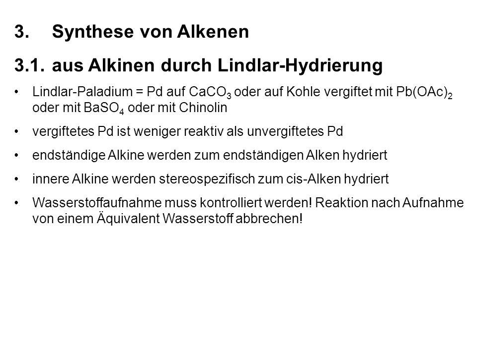 3. Synthese von Alkenen 3.1.