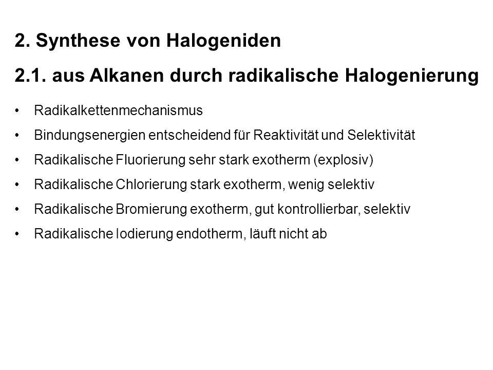 Radikalische Halogenierungen spielen zur Synthese von Grundchemikalien in der Industrie eine große Rolle.