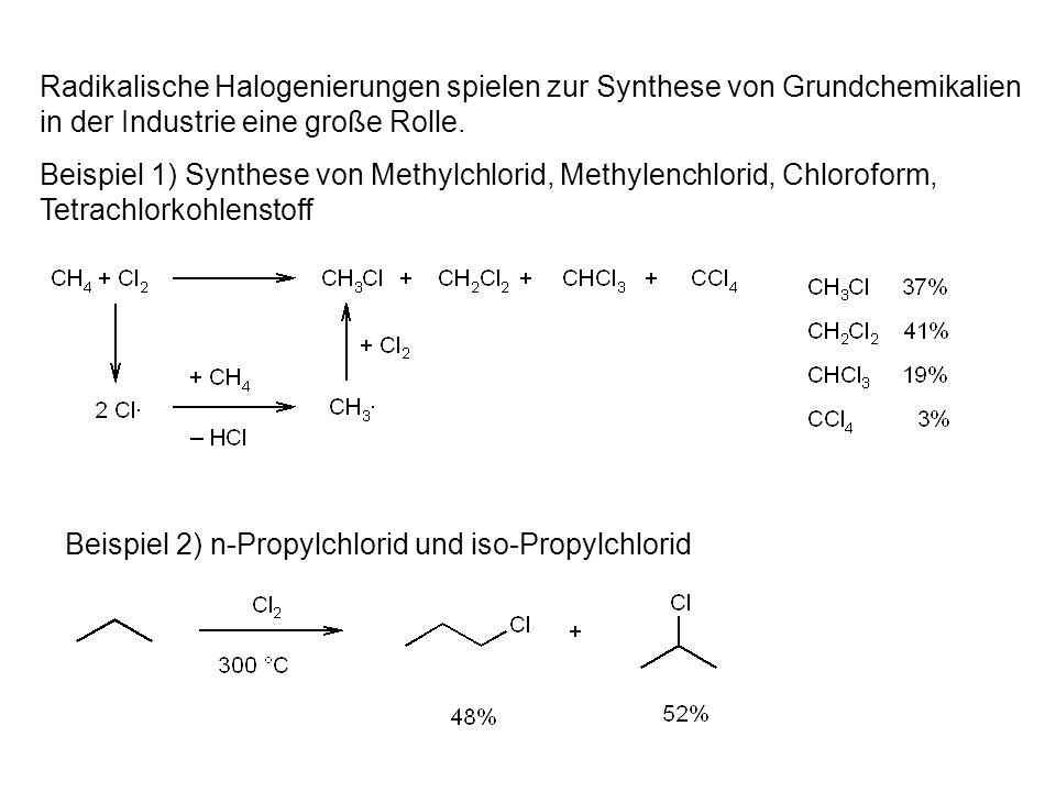 2.10.aus Carbonsäuren durch Hunsdiecker- Reaktion Umsetzung von Carbonsäuren mit HgO/Br 2 oder Ag 2 O/Br 2 Radikalischer Mechanismus Ausbeuten selten über 60%