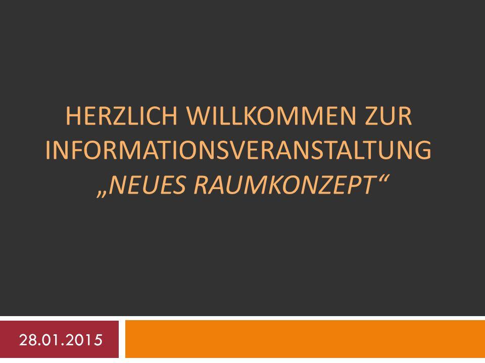 """HERZLICH WILLKOMMEN ZUR INFORMATIONSVERANSTALTUNG """"NEUES RAUMKONZEPT 28.01.2015"""