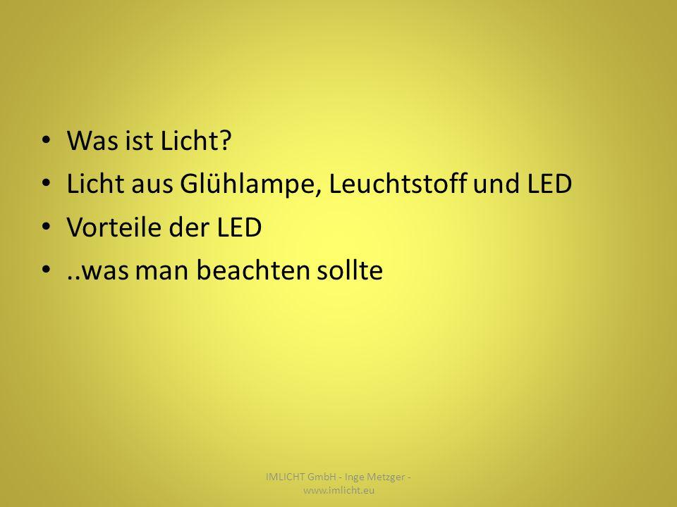 Was ist Licht.