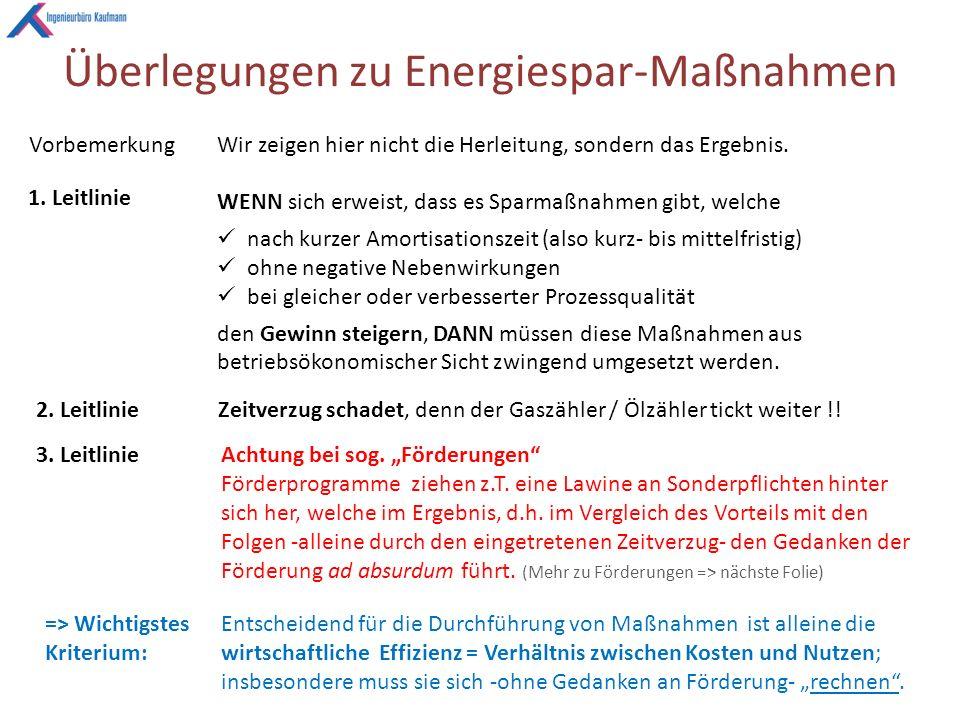 Überlegungen zu Energiespar-Maßnahmen VorbemerkungWir zeigen hier nicht die Herleitung, sondern das Ergebnis.