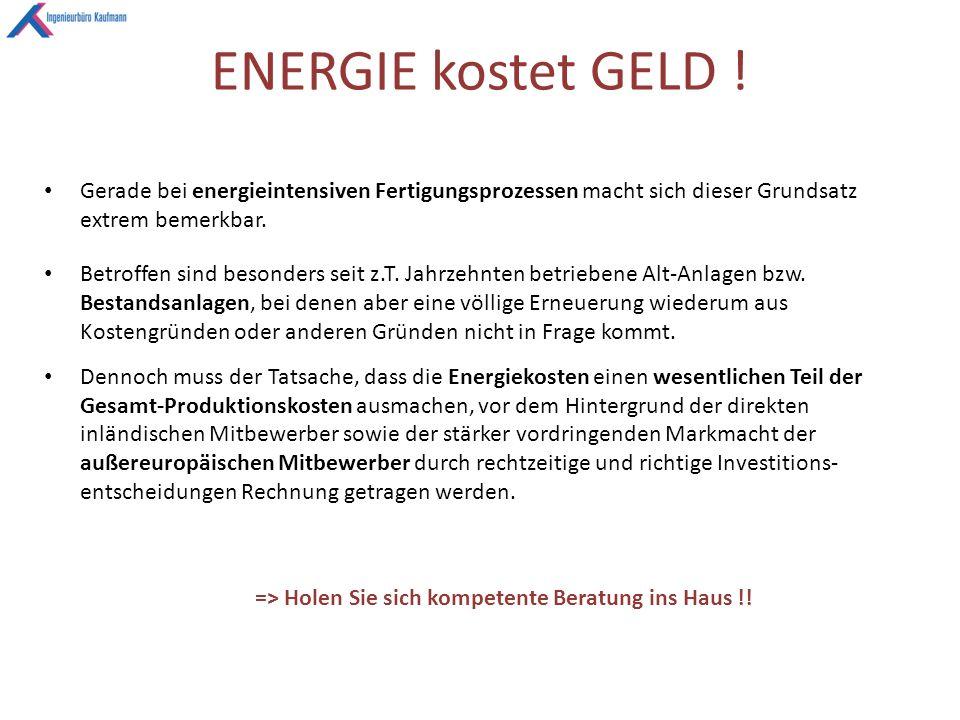 ENERGIE kostet GELD .