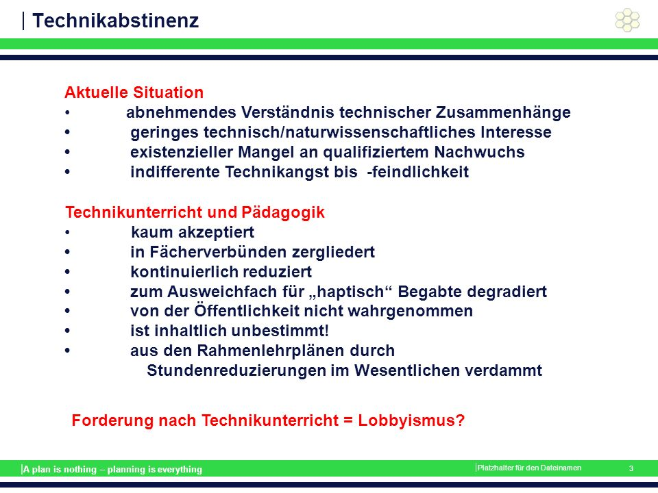 | A plan is nothing – planning is everything Sachsysteme  Platzhalter für den Dateinamen 14