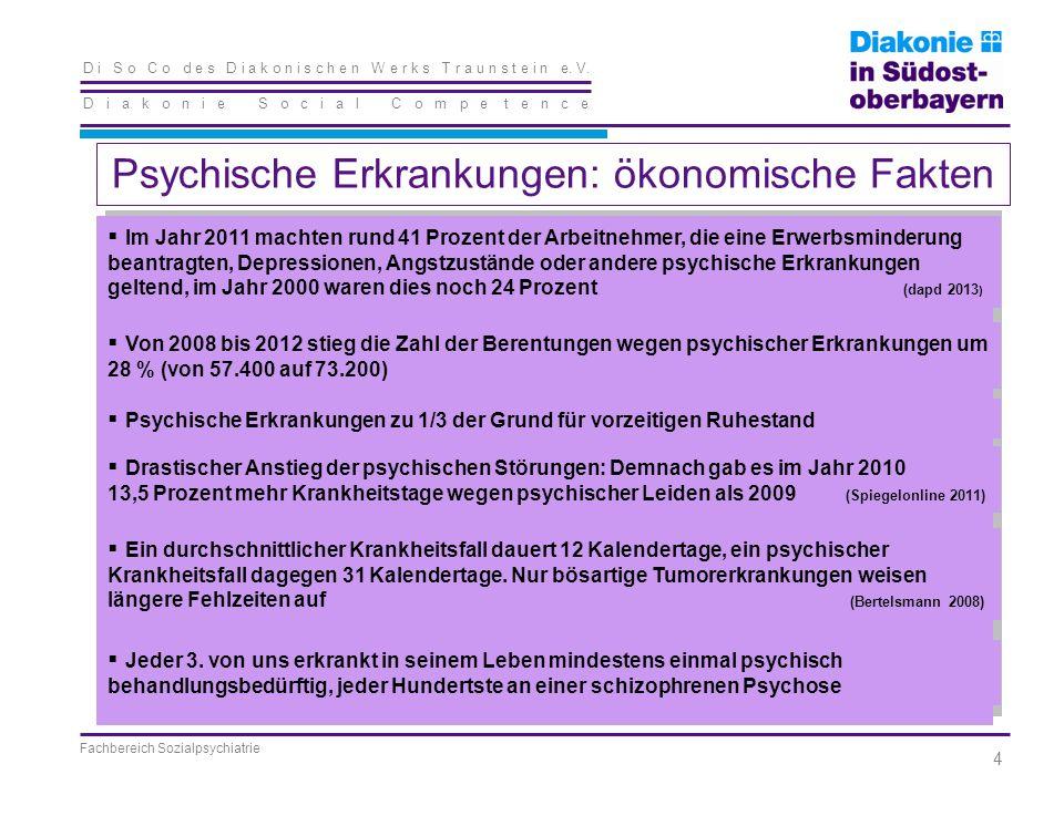 D i S o C o d e s D i a k o n i s c h e n W e r k s T r a u n s t e i n e. V. D i a k o n i e S o c i a l C o m p e t e n c e Fachbereich Sozialpsychi