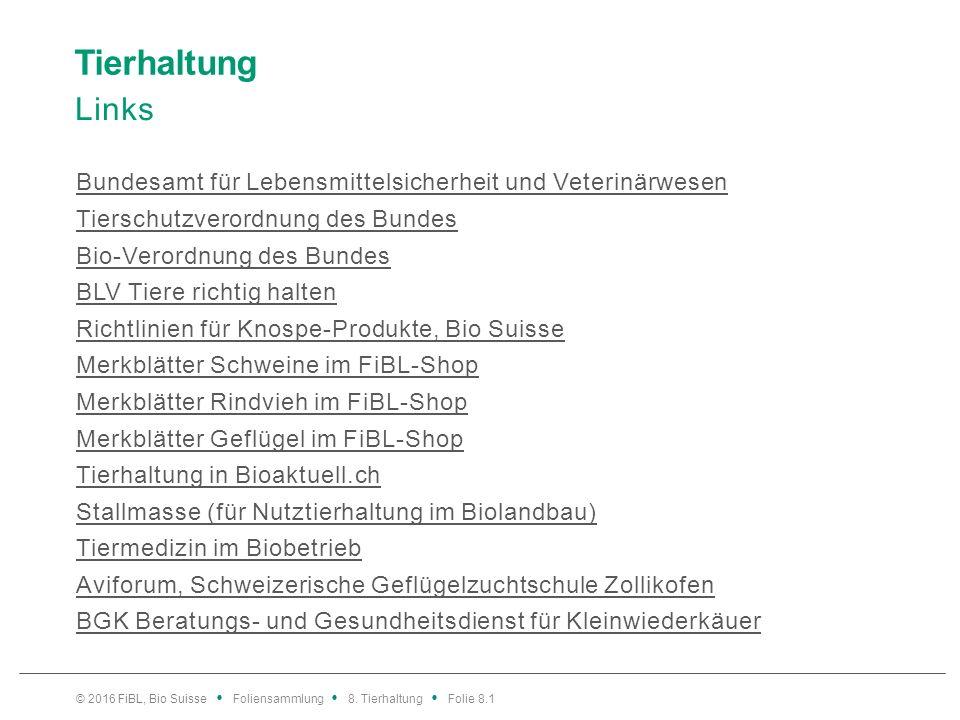 Rindvieh – Gesundheit Mastitis: Massnahmen bei Umweltkeimen Bild: Merkblatt «Euter- und Stoffwechselgesundheit bei Biomilchkühen», FiBL-Shop © 2016 FiBL, Bio Suisse Foliensammlung 8.