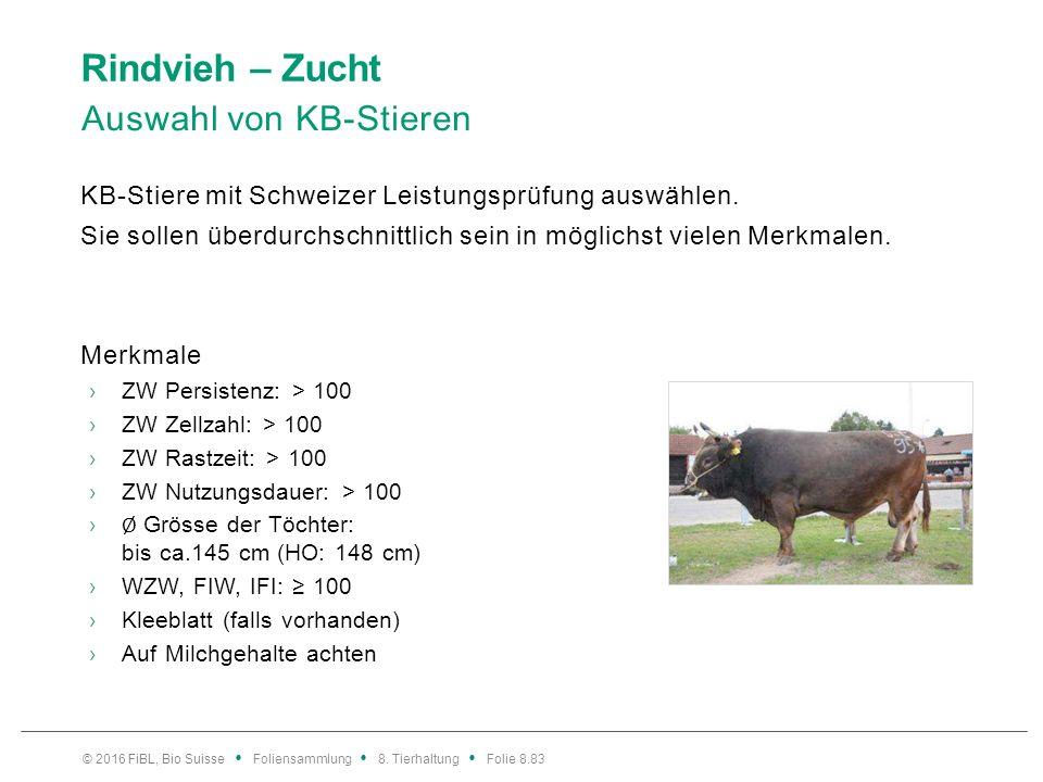 Rindvieh – Zucht Auswahl von KB-Stieren KB-Stiere mit Schweizer Leistungsprüfung auswählen. Sie sollen überdurchschnittlich sein in möglichst vielen M