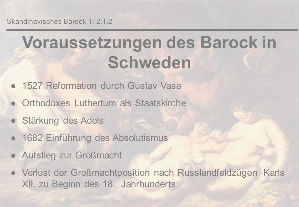 Voraussetzungen des Barock in Dänemark u.