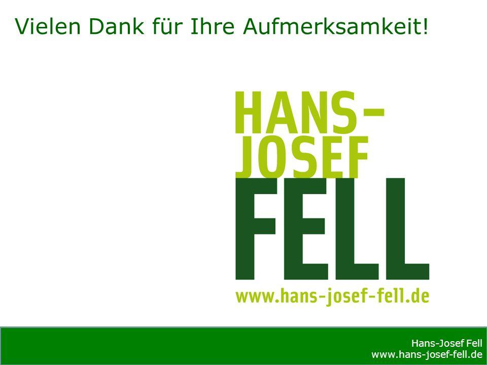 Hans-Josef Fell www.hans-josef-fell.de Hans-Josef Fell www.hans-josef-fell.de Vielen Dank für Ihre Aufmerksamkeit!