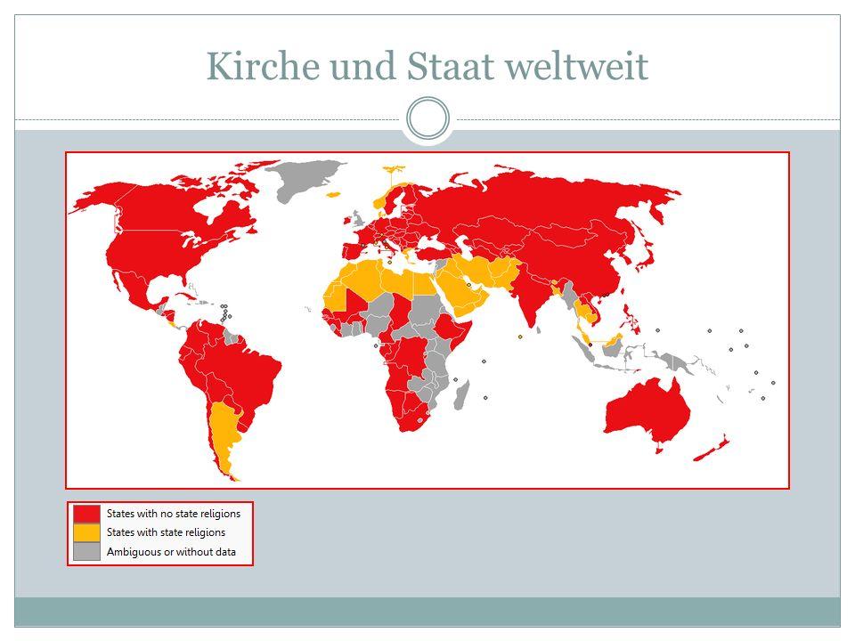 Kirche und Staat weltweit